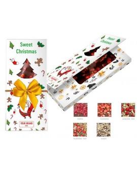 Vánoční čokoláda s posypem