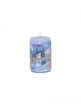 Vonná svíčka sněhulák válec